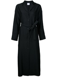 Cityshop Long Sleeve Belted Shirt Dress Black