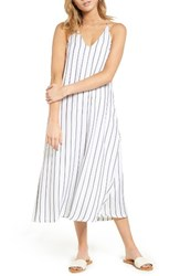 Mimi Chica Women's Stripe Slipdress White Grey Stripe