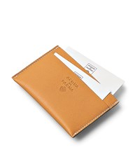 Acqua Di Parma Tournee Weekend Leather Business Card Holder Unisex