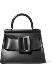 Boyy Karl 24 Small Buckled Leather Tote Black