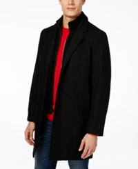 Tommy Hilfiger Single Breasted Overcoat Black