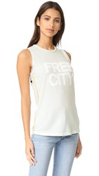 Freecity Str8up Pinned Sleeveless T Shirt Magical White Rabbit