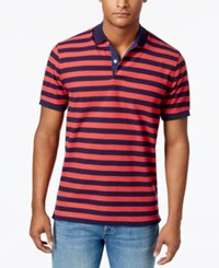 Club Room Men's Striped Performance Polo Only At Macy's Melone