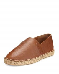 Vince Tucker Leather Espadrille Brown