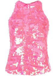 Milly Sequined Top Pink