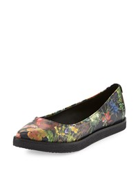 Elliott Lucca Bala Floral Pointed Toe Flat Autumn Botanical