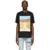 Marcelo Burlon County Of Milan Black And Beige Ostrich T Shirt