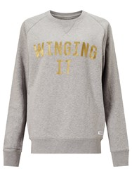 Selfish Mother Winging It Crew Neck Sweatshirt Grey Gold