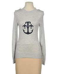 Lapidus Vintage Knitwear Cashmere Jumpers Women Light Grey