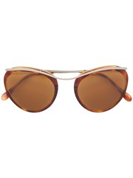 Romeo Gigli Vintage Round Shaped Sunglasses Brown