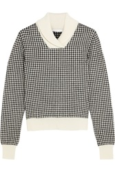 Chloe Houndstooth Wool Blend Sweater