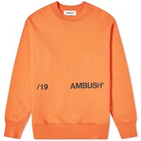Ambush Aw19 Crew Sweat Orange