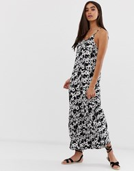 Superdry Evee Floral Print Maxi Dress Navy