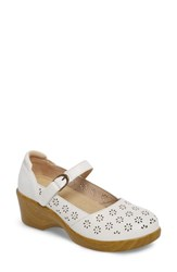Alegria By Pg Lite Rene Mary Jane Shoe White Butter Leather