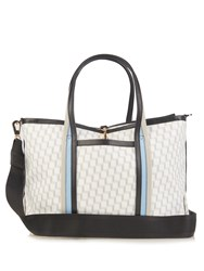 Pierre Hardy Cube Print Coated Canvas Tote White Multi
