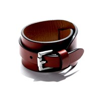 Jam Mmxiv Wide Leather Bracelet In Cordovan Multi