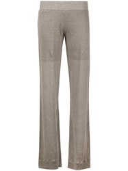 Cruciani Flared Trousers Women Linen Flax 38 Nude Neutrals