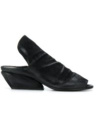 Marsell Structured Mules Black