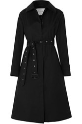 Mackintosh Belted Bonded Wool Coat Black