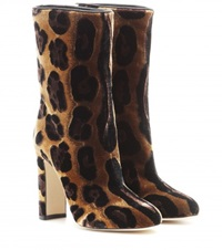 Dolce And Gabbana Velvet Boots Brown