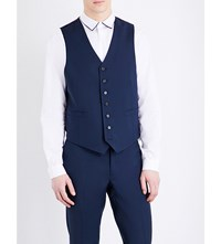 Sandro V Neck Wool And Mohair Blend Waistcoat Blue