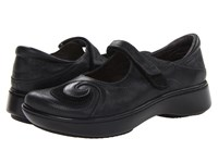Naot Footwear Sea Shiny Black Leather Black Suede Women's Shoes