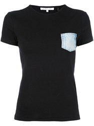 Helmut Lang Denim Patch Pocket T Shirt Women Cotton M Black