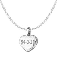 Dower And Hall Engravable Flat Heart Pendant Necklace Silver