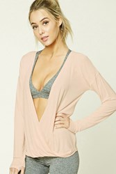 Forever 21 Active Surplice Front Top Pink