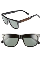 Shwood Monroe 55Mm Polarized Sunglasses Black Elm Black Elm