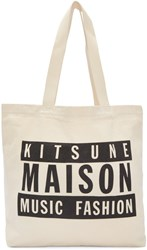 Maison Kitsune Ssense Exclusive Off White 28 Tote