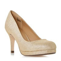 Linea Berrit Dressy Platform Court Shoes Gold