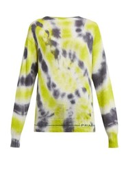 Prada Tie Dye Wool Blend Sweater Grey Multi