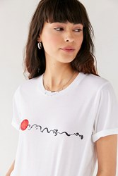 Truly Madly Deeply Sunset Waves Tee White