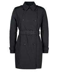 Aquascutum London Murray Double Breasted Wadded Trench Black