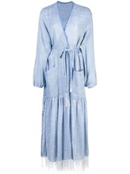 Lemlem Zinab Robe Dress Blue