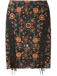 Christian Dior Vintage Laced Detail Pencil Skirt