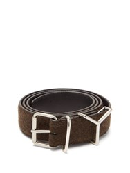 Y Project Loop Wool And Leather Belt Brown