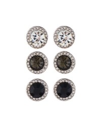 Fragments For Neiman Marcus Round Crystal Stud Earring Trio Black