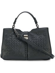 Bottega Veneta Napoli Intreccaito Bag Leather Black