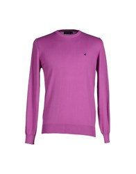 Brooksfield Knitwear Jumpers Men Purple