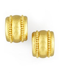 Amalfi Granulated 19K Gold Huggie Earrings Elizabeth Locke
