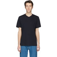 Jil Sander Navy V Neck T Shirt