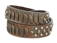 Leather Rock B474 F607 Patina Bracelet Brown