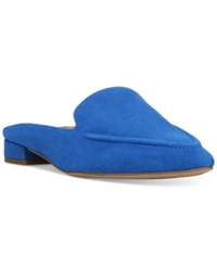 Franco Sarto Sela Pointed Toe Slip On Loafer Mules Women's Shoes Mediterranean Blue