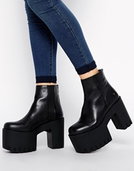 Windsor Smith Haven Cleated Chunky Sole Boots Black