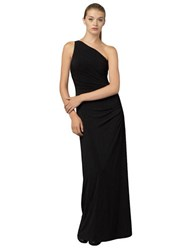 Laundry By Shelli Segal Side Beaded One Shoulder Gown Black