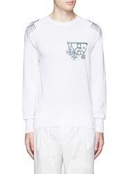 Alexander Mcqueen Nautical Embroidery Cotton Sweater White
