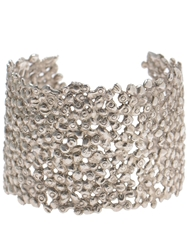 Natasha Collis Large Dripped Sterling Silver Cuff Metallic