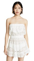 Kos Resort Strapless Lace Cover Up Dress White